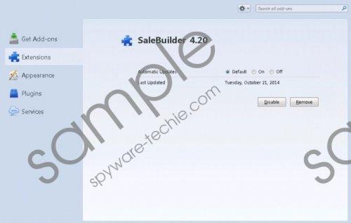 SaleBuilder Removal Guide