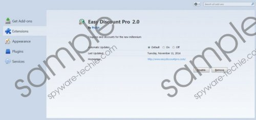 Easy Discount Pro Removal Guide