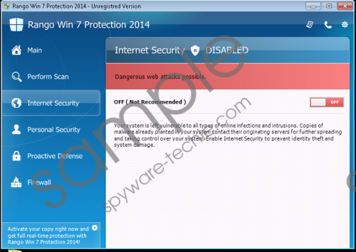 Rango Win 7 Antivirus 2014 Removal Guide