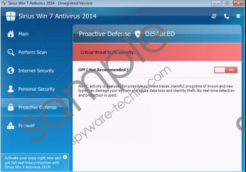 Sirius Win 8 Antispyware 2014 Removal Guide