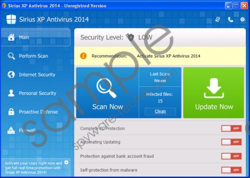Sirius Win XP Antivirus 2014 Removal Guide