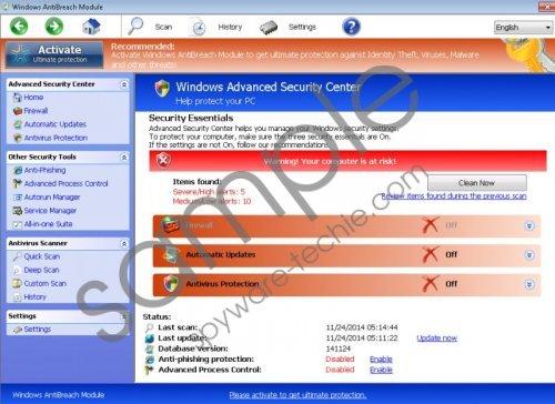 Windows Antibreach Module Removal Guide
