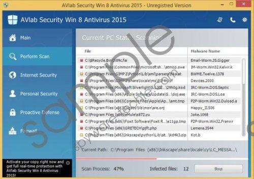 AVLab Internet Security Win 8 Antivirus 2015 Removal Guide