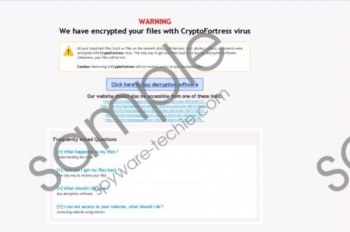 CryptoFortress Ransomware Removal Guide