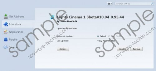Ads by Lights Cinema Removal Guide