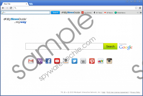 MyNewsGuide Toolbar Removal Guide