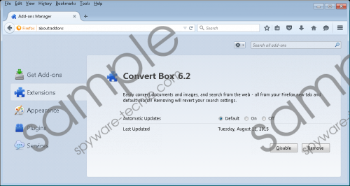ConvertBox Toolbar Removal Guide