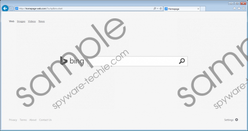 Homepage-web.com Removal Guide