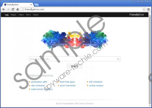 Friendlyerror.com Removal Guide