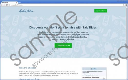 Saleslider Removal Guide