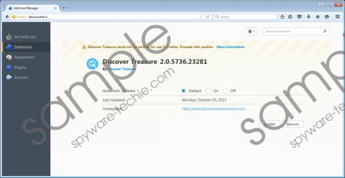 Discover Treasure Removal Guide