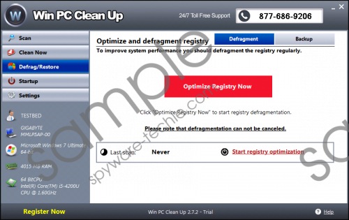 Win PC Clean Up Removal Guide