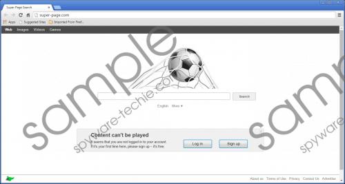 Super-page.com Removal Guide