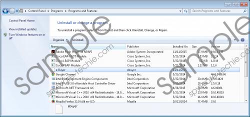 E-Buyer Removal Guide