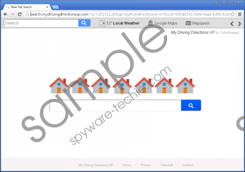 Search.mydrivingdirectionsxp.com Removal Guide