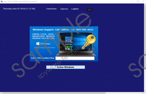 Windows Support. Call TollFree: +1 -855-441-4421 Removal Guide