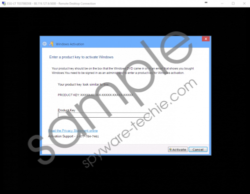 Fake Activation Support 1-877-784-7461 Removal Guide