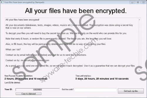 Stampado Ransomware Removal Guide