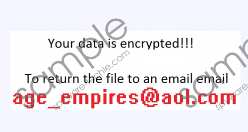 Age_empires@india.com Ransomware Removal Guide