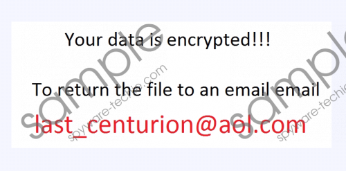 Last_centurion@aol.com Ransomware Removal Guide
