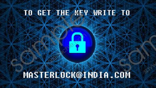 Masterlock@india.com Ransomware Removal Guide