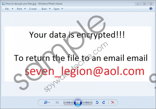 Seven_legion@aol.com Ransomware Removal Guide