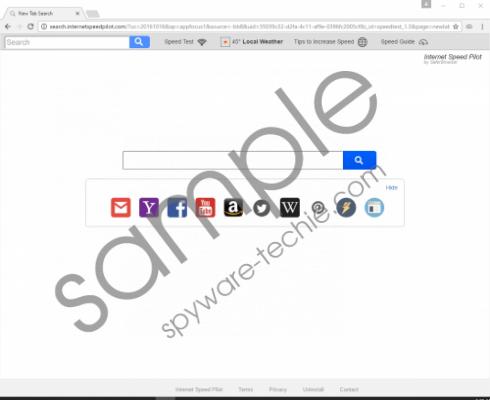 Search.internetspeedpilot.com Removal Guide