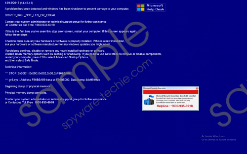 1800-935-6918 Driver_irql_not_les_or_equal Removal Guide