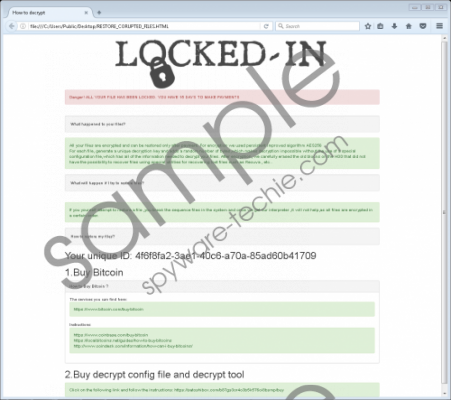 Locked-in Ransomware Removal Guide