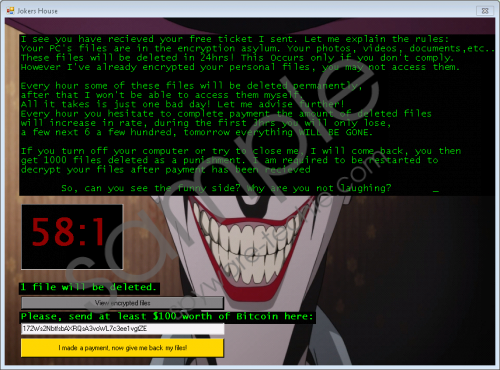 Jokers House Ransomware Removal Guide