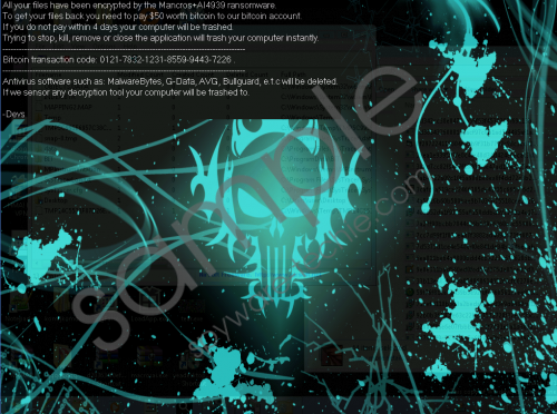 Mancrosai4939 Ransomware Removal Guide