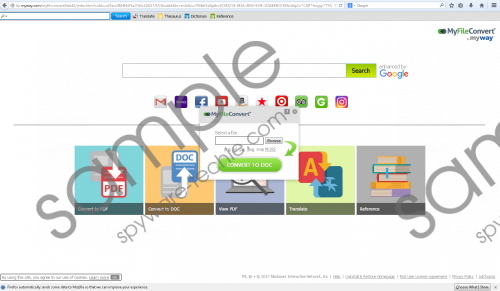 MyFileConvert Toolbar Removal Guide