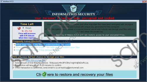 MoWare H.F.D Ransomware Removal Guide