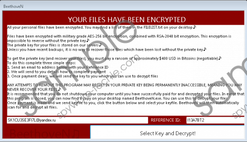 BeethoveN Ransomware Removal Guide