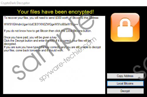Cryptodark Ransomware Removal Guide