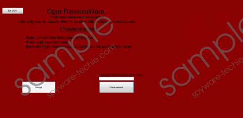 Ogre Ransomware Removal Guide