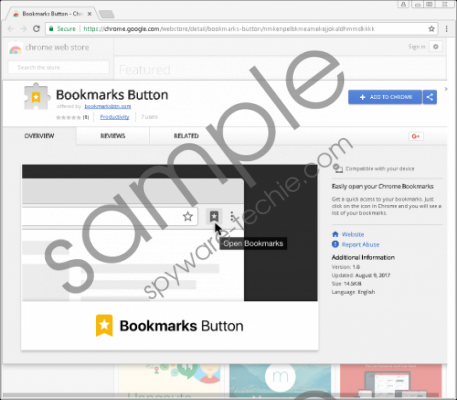 Bookmarks Button Removal Guide