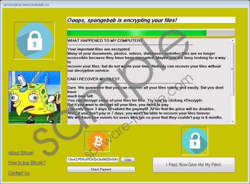 Spongebob Ransomware Removal Guide