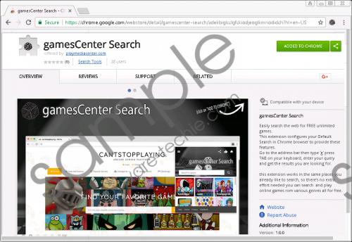GamesCenter Search Removal Guide