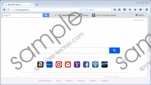 Search.testmyspeeds.co Removal Guide