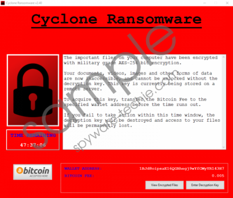 Cyclone Ransomware Removal Guide
