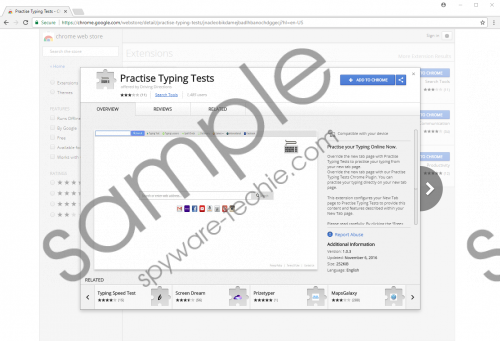 Practise Typing Tests Extension Removal Guide