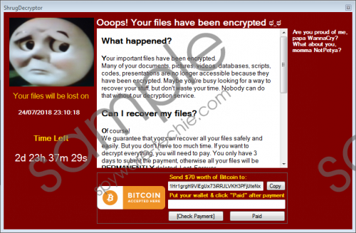Shrug2 Ransomware Removal Guide