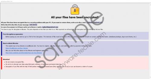 raphaeldupon@aol.com Ransomware Removal Guide