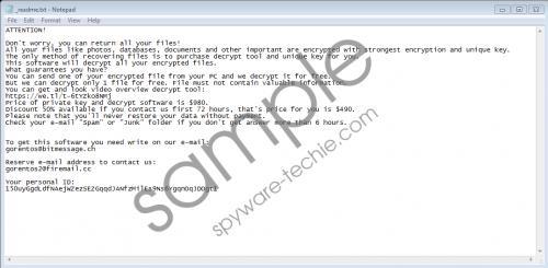 Vesrato Ransomware Removal Guide
