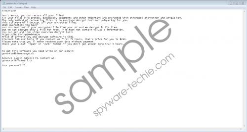 Zatrov Ransomware Removal Guide