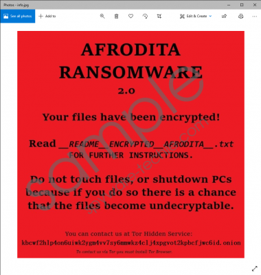 Afrodita Ransomware Removal Guide