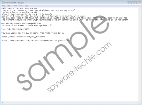 Odveta Ransomware Removal Guide