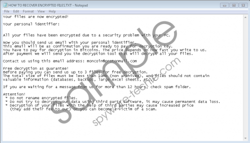 MonCrypt Ransomware Removal Guide