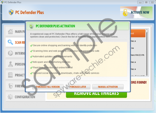 PC Defender Plus Removal Guide